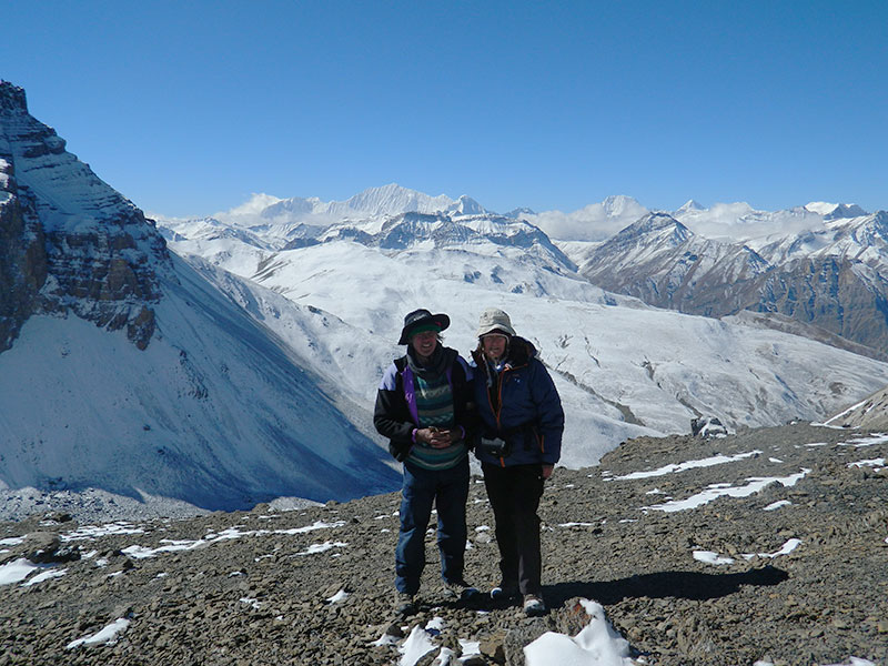 Sian Pritchard-Jones and Bob Gibbons in Dolpo.