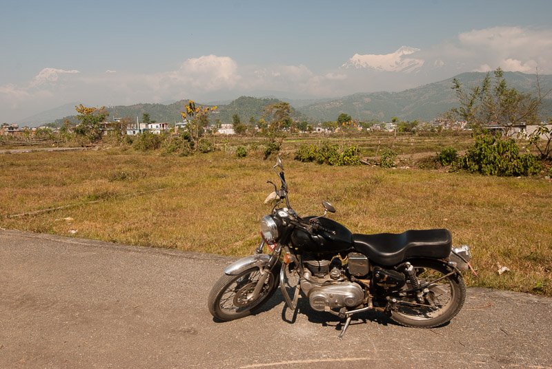 Royal Enfield en route from Kathmandu to Pokhara.