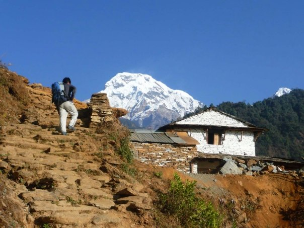 near ghandruk with the view of Annapurna